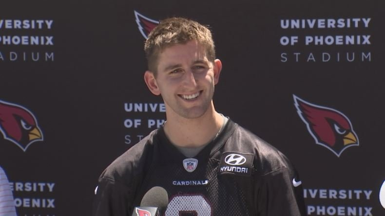 Josh Rosen practiced with the Cardinals for the first time on Friday. (Source: 3TV/CBS 5)