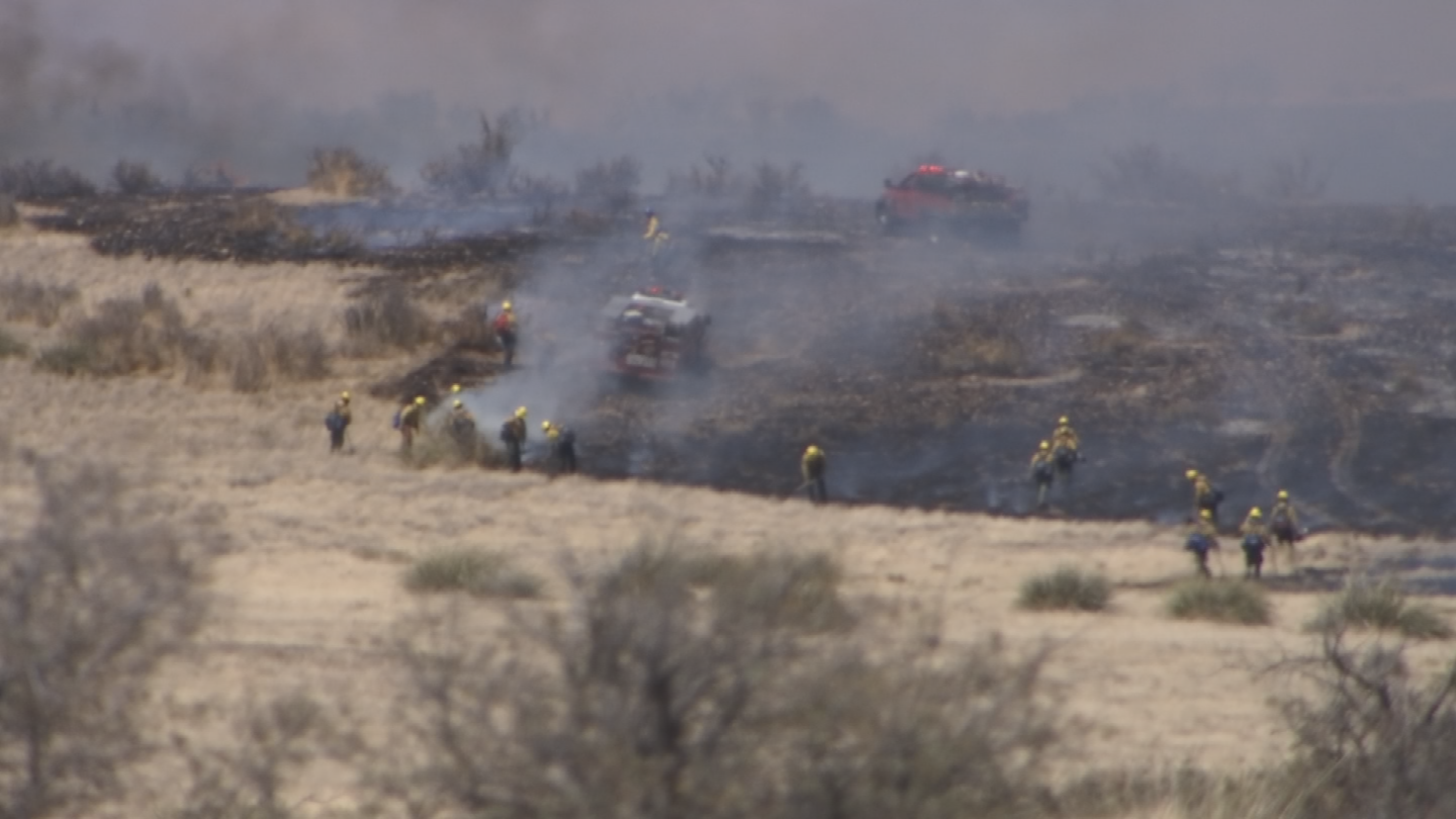 Firefighters are patrolling and mopping up the fire line around the communities, fire crews said. (Source: 3TV/CBS 5)