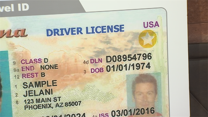 The gold star in the upper right corner tells TSA that it's the new travel ID and that it meets tougher security standards. (Source: 3TV)