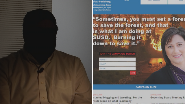 The voice behind the website said he has family and friends who work for SUSDand have been adversely affected by the decisions made by the district and governing board.(Source: 3TV/CBS 5)