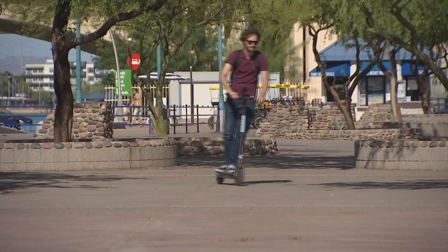Right now, Bird scooters are only available in Tempe. (Source: 3TV/CBS 5)