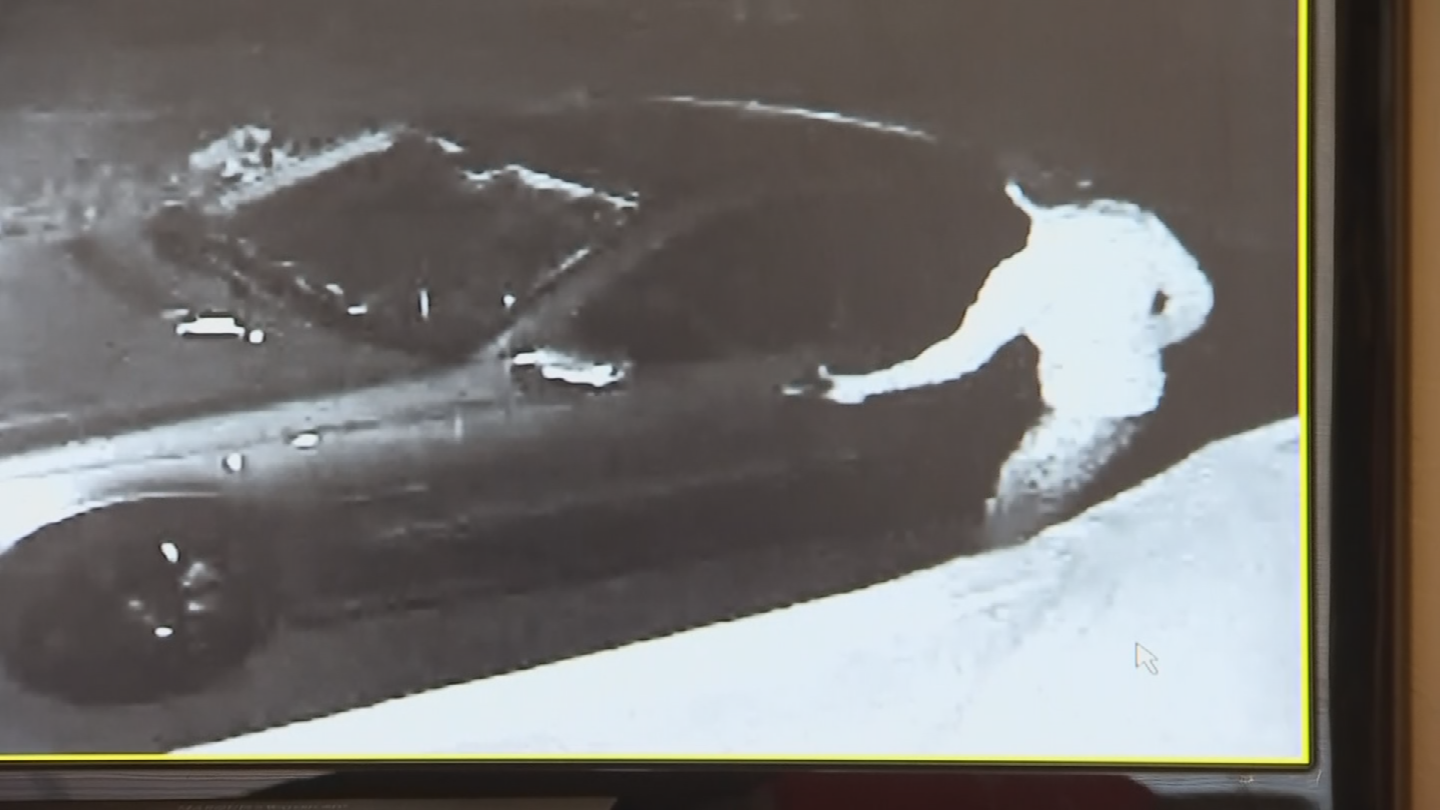 The thieves tried to break into Matteson's car but it was locked. (Source: 3TV/CBS 5)
