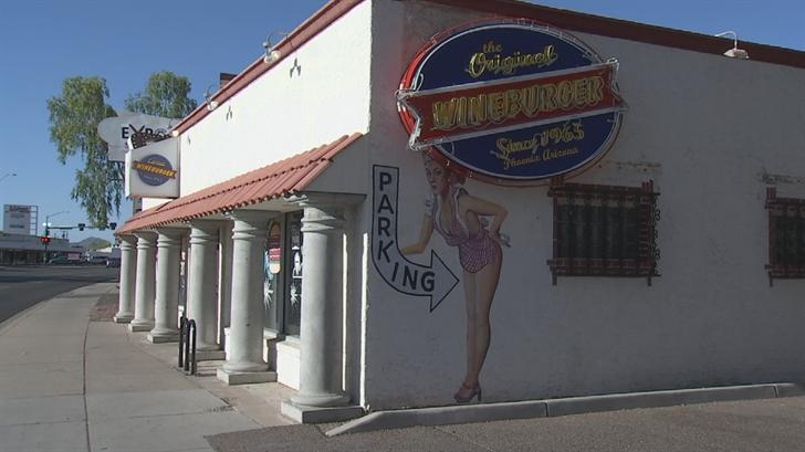 The Original Wineburger, on Seventh Avenue near Indian School Road, served its last customer on Sunday night. (Source: 3TV/CBS 5)