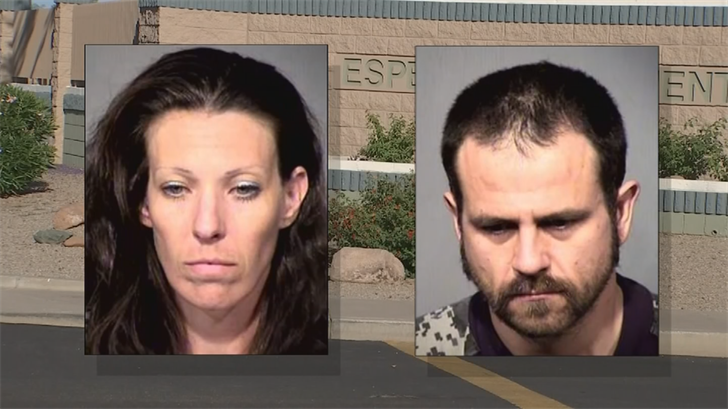 Marisa Claire and Matthew Dunlap were arrested last week in Phoenix for allegedly abusing a 7-year-old girl. (Source: Maricopa County Sheriff's Office)