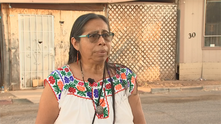 Sylvia Herrera, a tenant advocate from Barrio Defense Committees. (Source: 3TV/CBS 5)