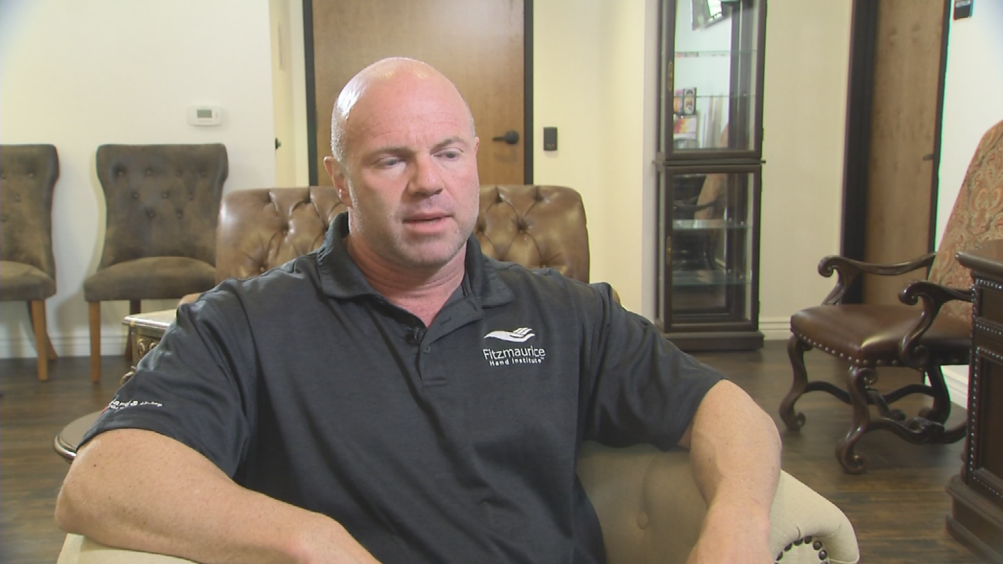 Dr. Fitzmaurice says the fit is actually better than a plaster cast and has other advantages as well. (Source: 3TV/CBS 5)