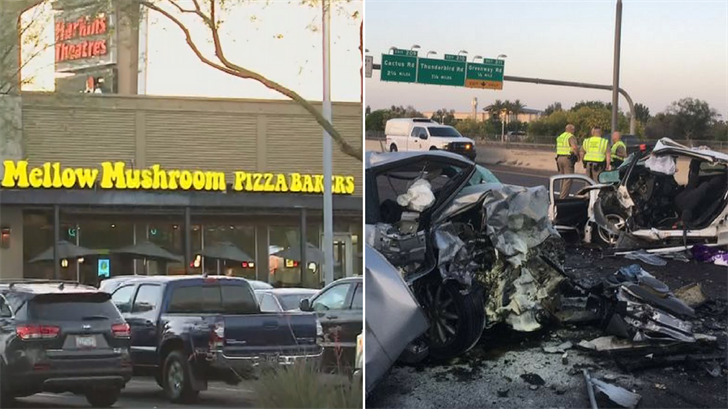 Cathy Hocking and Perry Richardson are suing Mellow Mushroom Pizza Bakers and the State of Arizona over the wrong-way crash that killed their daughters. (Source: 3TV/CBS 5)