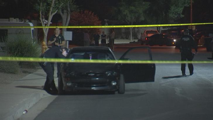 Multiple gunshots were reported in a neighborhood near Pecos and McQueen roads late Thursday night. (Source: 3TV/CBS 5)