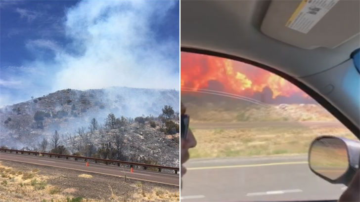 The Potato Fire started on Sunday afternoon. (Source: ADOT/Heather Thompson)