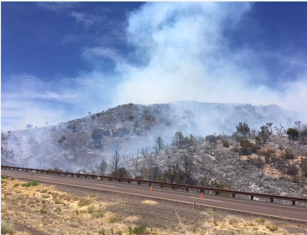 The fire started on Sunday. (Source: ADOT)