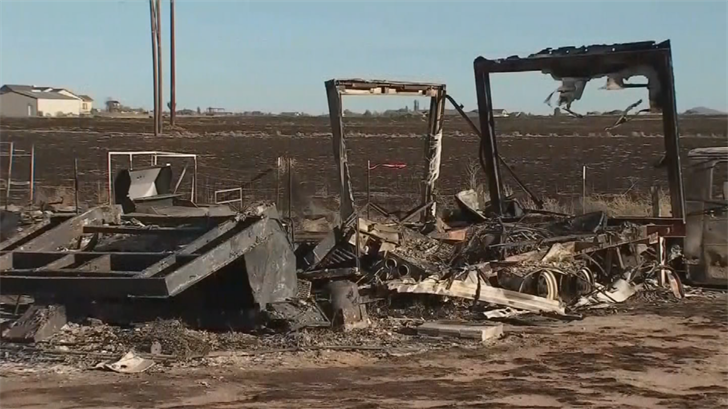 Everything on their property was burnt to the ground by the Viewpoint Fire. (Source: 3TV/CBS 5)