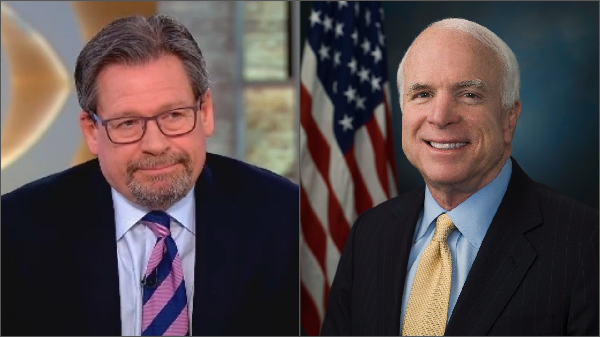 Mark Salter (let) is the co-author of Arizona Sen. John McCain's new book. (Source: 'CBS This Morning' and 3TV/CBS file photo)