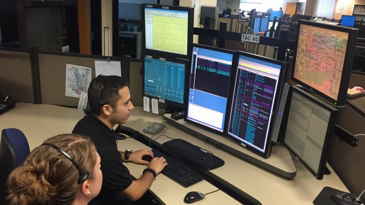 A dispatcher's career is both fulfilling and fast paced. (Source: Phoenix Police Dept.)