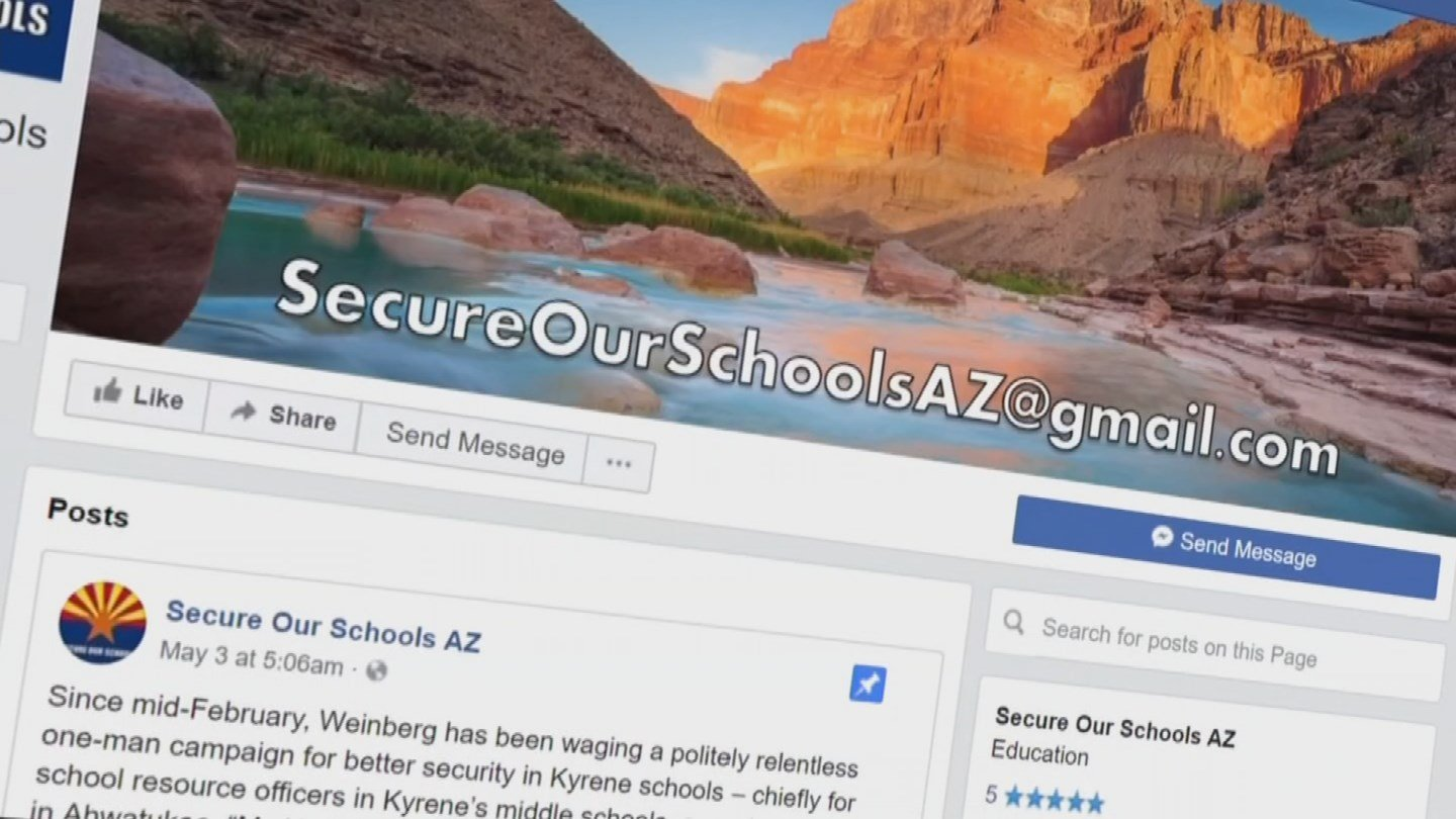 "Weinberg created a campaign, ""Secure Our Schools."" (Source: 3TV/CBS 5 News)"