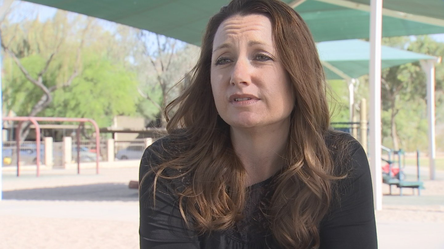 Katy Proctor says her son was hit by an air-soft BB while eating ice cream. (Source: 3TV/CBS 5 News)
