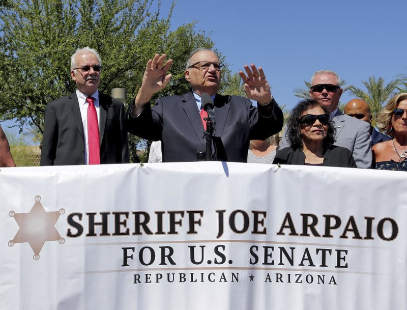 Arpaio is facing tough questions about the details of his beliefs. (Source: AP Photo/Matt York)