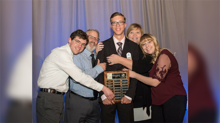 Tyler Ruoff won the honor of the Boys & Girls Club Youth of the Year. (Source: Tyler Ruoff)