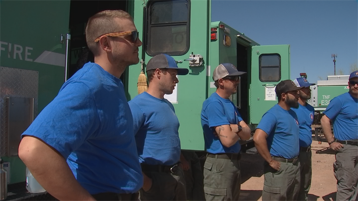 They've already been here for a week to help out, given our particularly dry conditions. (Source: 3TV/CBS 5)