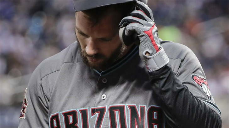 In his first season with Arizona, the 29-year-old Souza is hitting .163 (7 for 43) with one RBI. (Source: AP Photo)
