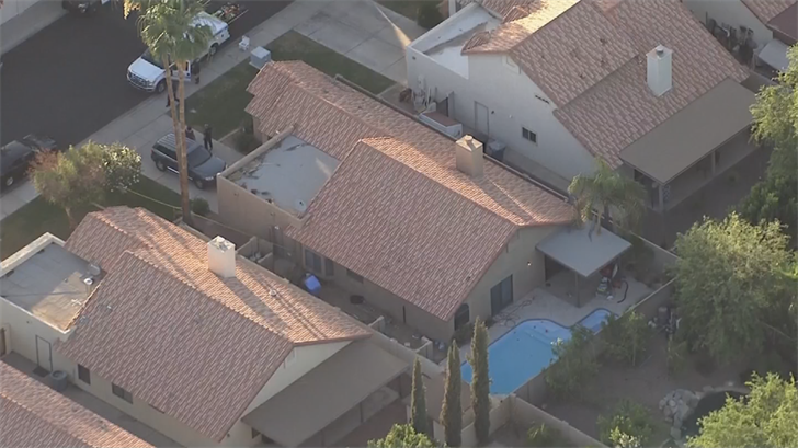 A boy's mother pulled him from a backyard pool in Gilbert. (Source: 3TV/CBS 5)