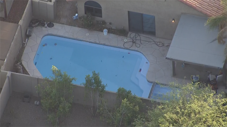 It appears there was no barrier around the pool. (Source: 3TV/CBS 5)