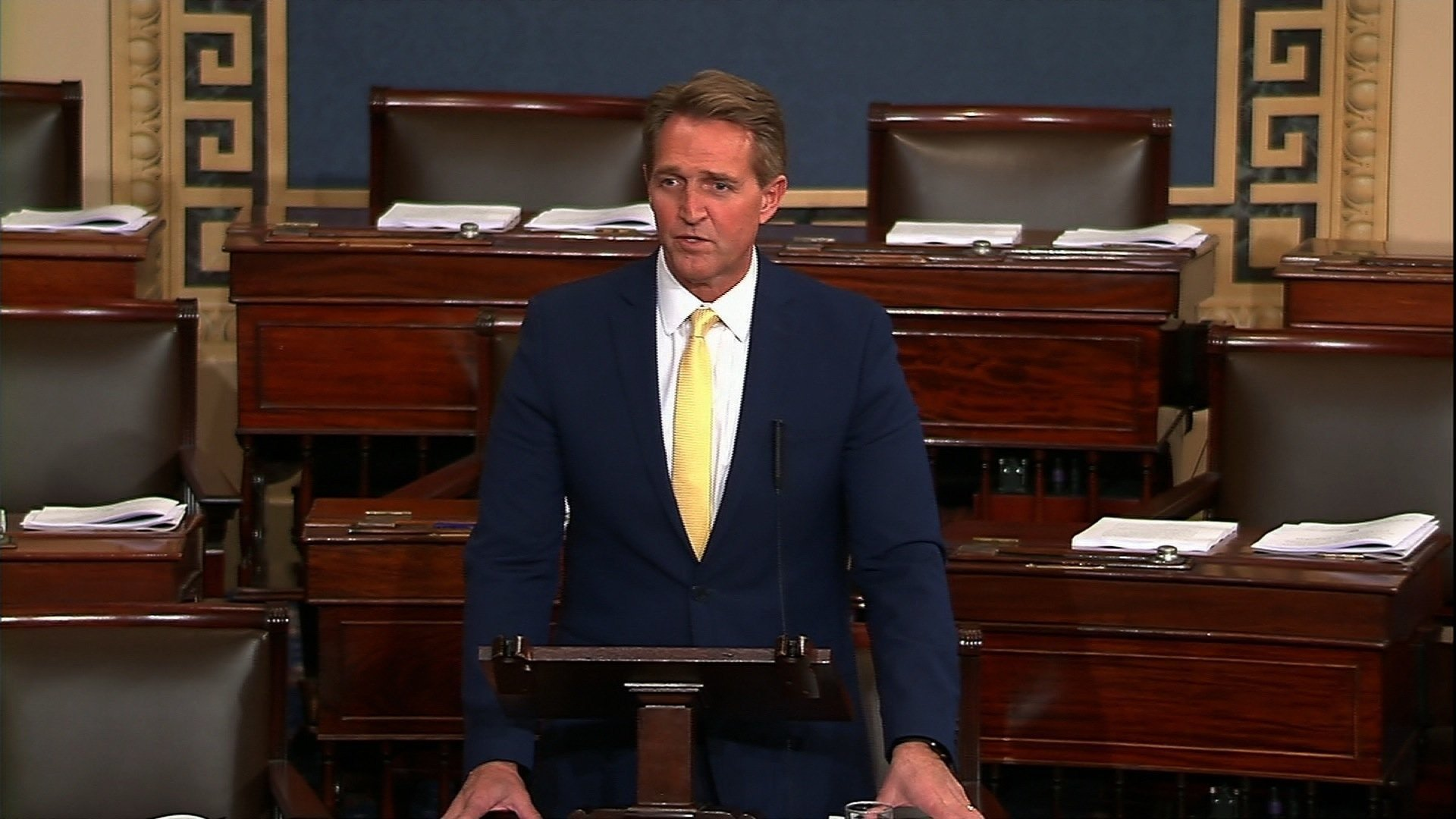 GOP Sen. Jeff Flake gave some of his harshest criticism of President Donald Trump to date in a commencement speech Wednesday to Harvard Law students, where he shared his concerns for the integrity of politics in the United States. (Source: CNN)