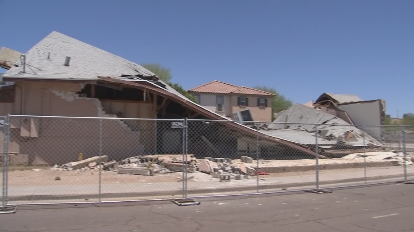Members of a south Phoenix church are glad no one was inside when the building collapsed on Wednesday night. (Source: 3TV/CBS 5)