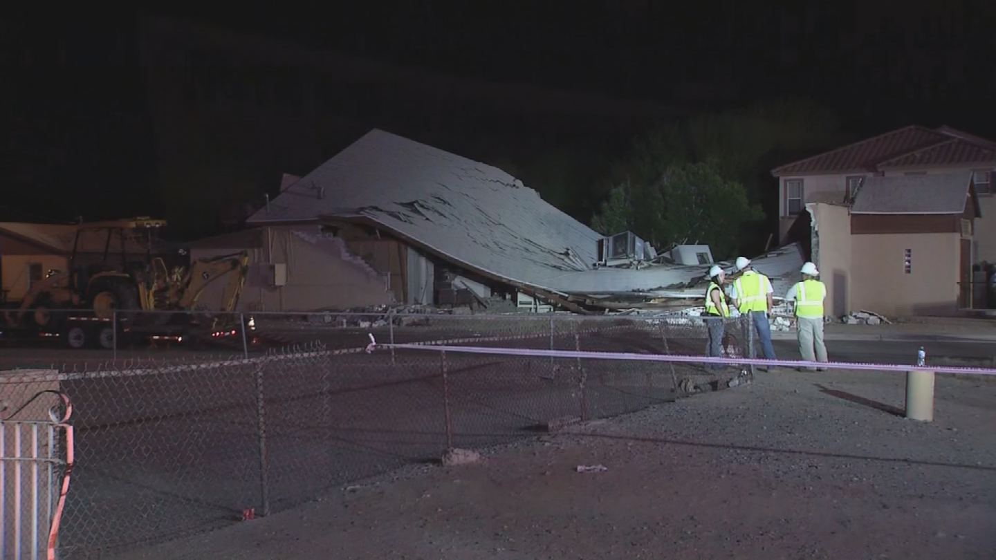It's unclear what caused the collapse. (Source: 3TV/CBS 5)