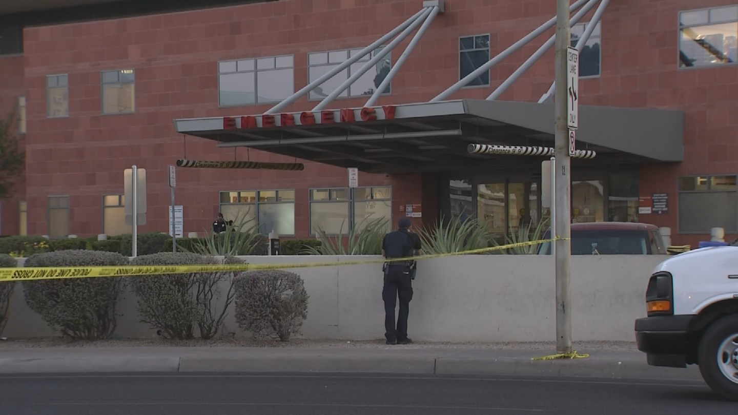 One person was shot in the parking lot of the hospital. (Source: 3TV/CBS 5)