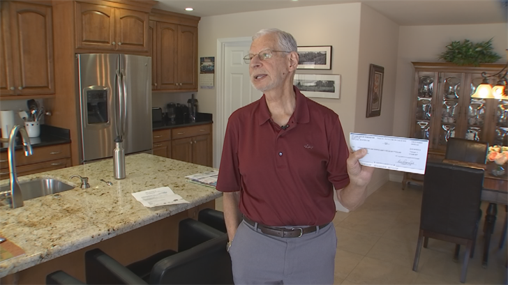 Marlow Krien says he got a letter in the mail saying he won a lottery and had to cash a check. (Source: 3TV)