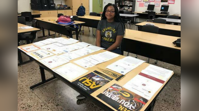 Eden Jenkins received more than a $1 million in scholarships. (Source: Phoenix Union High School District Facebook page)Eden Jenkins applied to 62 schools and got into 48 of them. (Source: Phoenix Union High School District Facebook page)