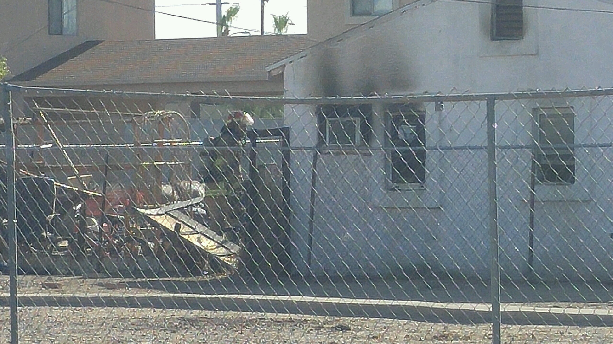 A dog died following a house fire in Phoenix. (Source: 3TV/CBS 5)