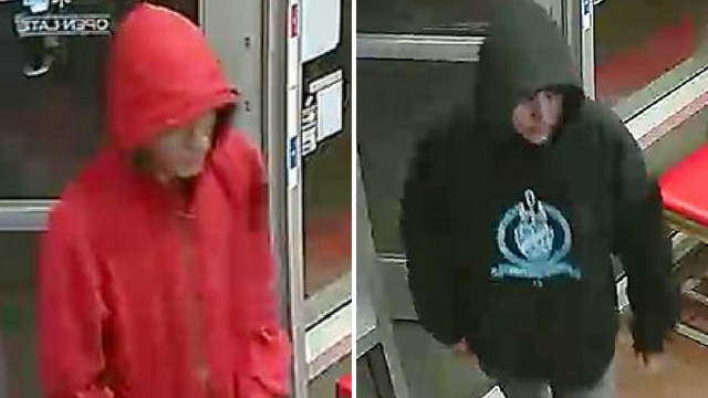 Police these two men robbed a Domino's in Laveen in March. (Source: Silent Witness)
