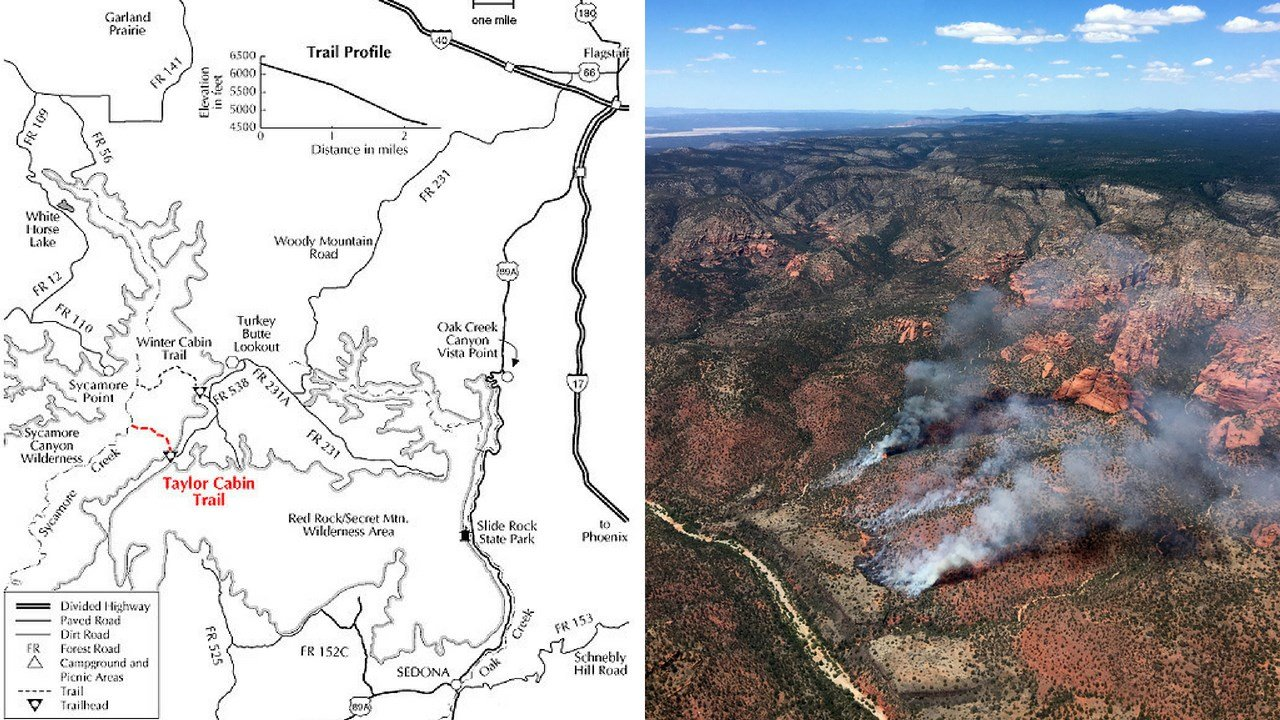 The Taylor Cabin Trail. (Source: Coconino Nat. Forest)