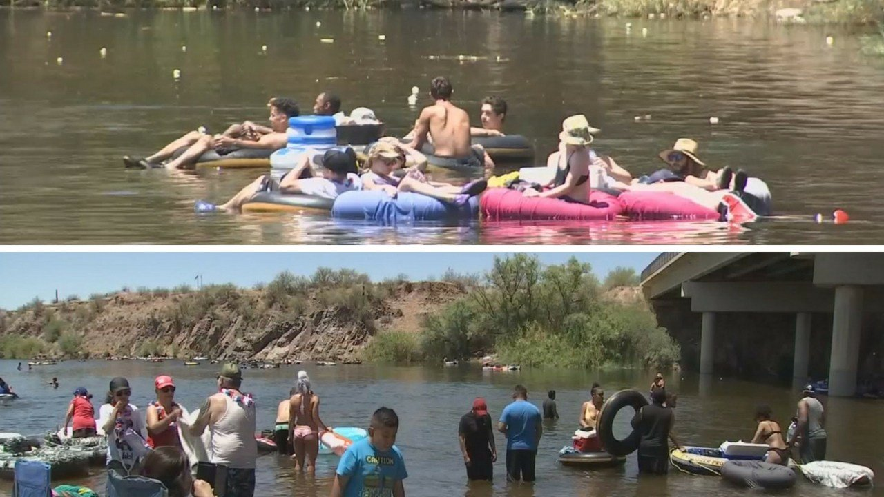 The Salt River is a popular destination for Memorial Day. (Source: 3TV/CBS 5 News)