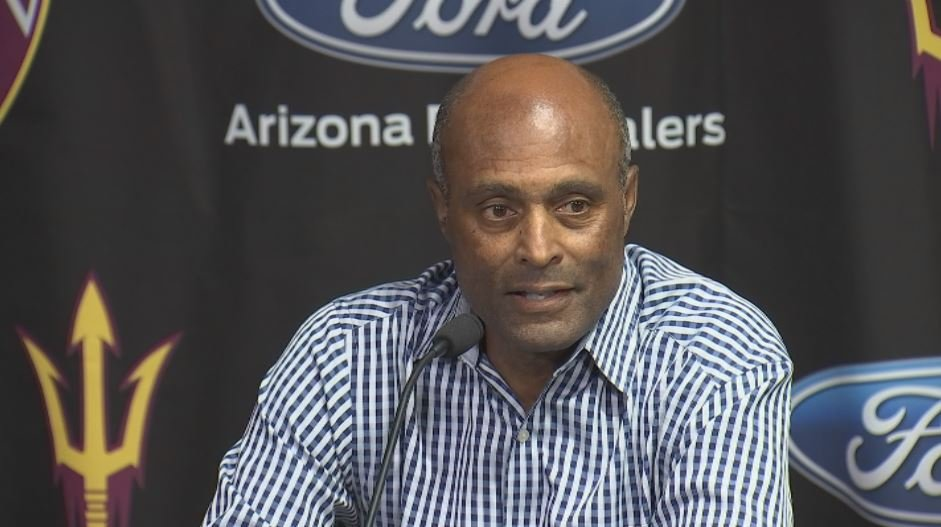 Ray Anderson explains his decision to keep baseball coach Tracy Smith after back to back losing seasons. (Source: 3TV/CBS 5)