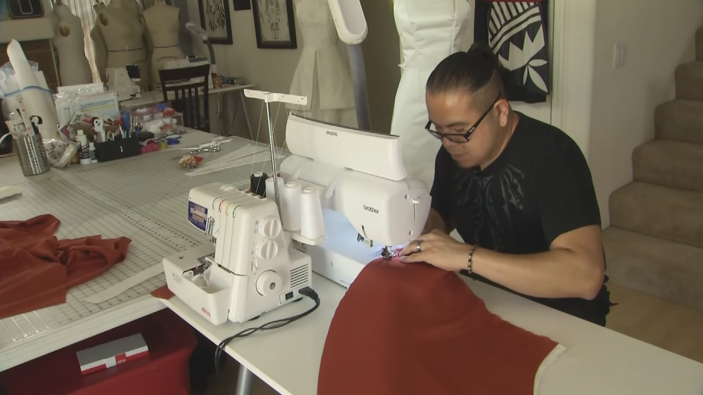 Loren Aragon has been hand-picked by Disney to make a dress for an upcoming exhibit. (Source: 3TV/CBS 5)