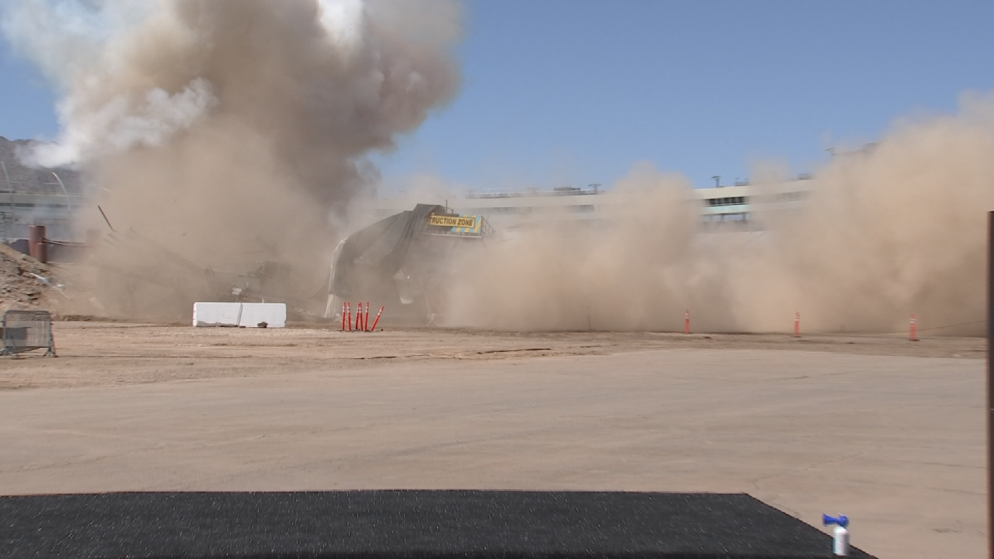 This is one of the key remaining construction milestones before completion of the ISM Raceway project. (Source: 3TV/CBS 5)