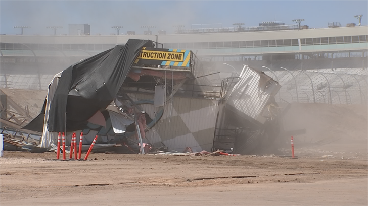 The tower was demolished at 10 a.m.(Source: 3TV/CBS 5)