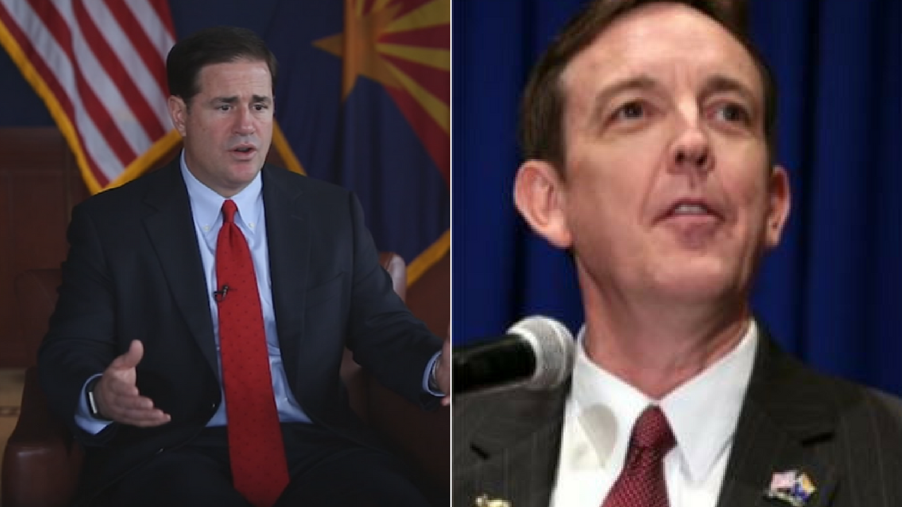 A former Arizona secretary of state will challenge Gov. Doug Ducey in the Republican primary on Aug. 28. (Source: 3TV/CBS 5)