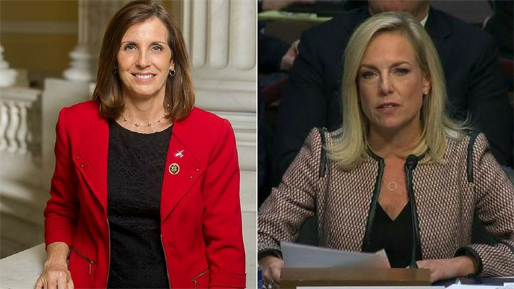 Arizona Senate candidate and the head of the country's homeland security department will take another tour of the Arizona-Mexico border. (Source: mcsally.house.gov/CNN)