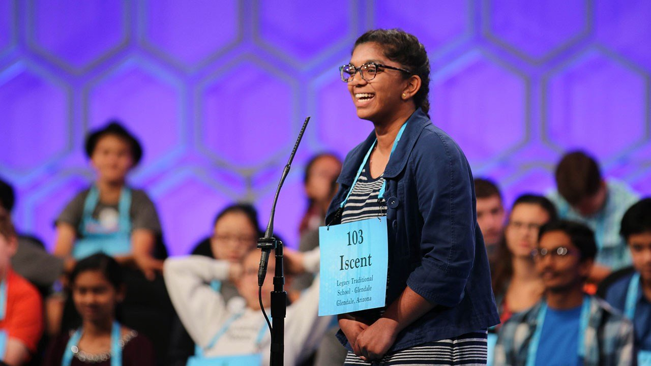 Legacy Traditional School eighth-grader Iscent George said it was more important to enjoy the fact of being at the national spelling bee than worrying about winning or losing. (Source: Bryan Pietsch/Cronkite News)