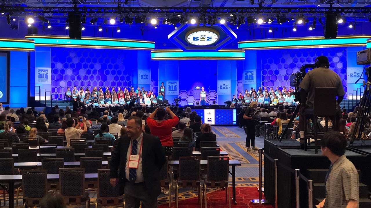 More than 500 students, including eight from Arizona, took the stage at the Gaylord National Harbor resort near Washington this week to compete in the 91st Scripps National Speling Bee. (Source: Dani Coble/Cronkite News)