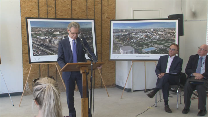 Developers and representatives of the LDS Temple in Mesa held a news conference Thursday to unveil pictures and plans to revitalize the community. (Source: 3TV/CBS 5)