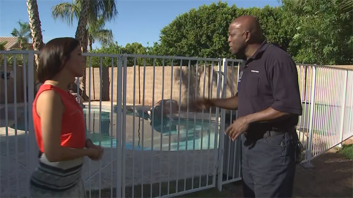 """Some things you have to look at through a child's standpoint,"" said Deputy Chief Forrest Smith with Mesa Fire Dept. ""Some of the things you could do here is install an extra bolt or deadbolt that's higher up, keeping that locked."" (Source: 3TV/CBS 5)"