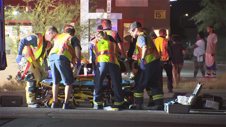 They were both transported to a local trauma center in critical condition. (Source: 3TV/CBS 5)