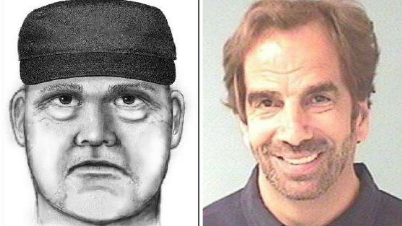 Sketch of homicide suspect (left) and victim, Dr. Steven Pitt (Source: Phoenix Police Department)