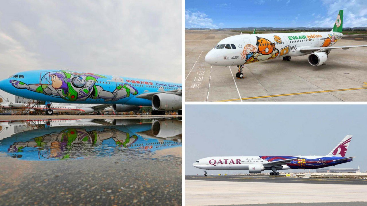 Aircraft liveries -- to give the plane's exterior paint job its correct technical term -- are getting ever more creative. By turns amusing, beautiful, or even downright odd, they stand out in a sea of uniformity. (Source: China Eastern, Eva Air & Qatar)