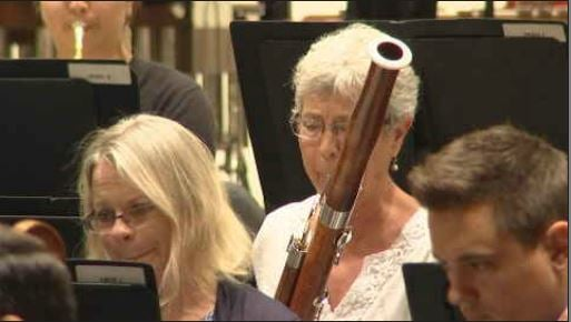 Principal bassoonist Bonnie Wolfgang plays during her final rehearsal with the Phoenix Symphony. (Source: 3TV/CBS 5)