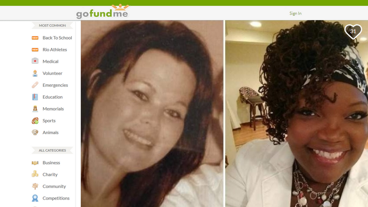 Laura Anderson (L) and Veleria Sharp (R) (Source: GoFundme.com)